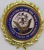 """K-Bar Combat Fighting Knife Wall Display Plaque - 16""""L x 5W"""" (Navy Emblem)"""