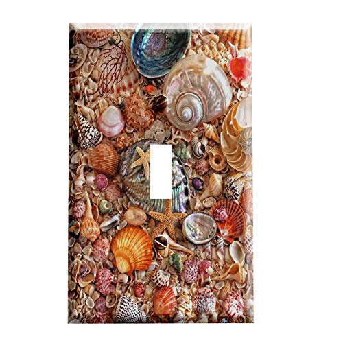 (Seashell Beach Switchplate - Switch Plate Cover)