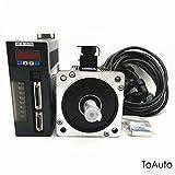 CNC Servo Motor Driver Control Kit 2KW NEMA52 CNC Drive Controller Kit 2500R/Min 7.7NM 220V with 3M Cable