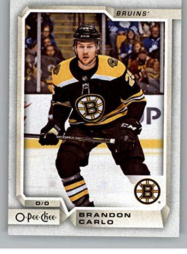 2018-19 OPC O-Pee-Chee Hockey #444 Brandon Carlo Boston Bruins Official 18/19 NHL Trading Card (Bruins Card Boston Nhl)