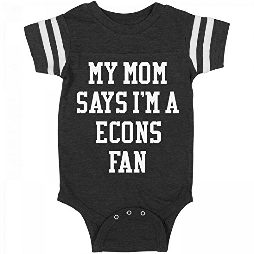My Mom Says I'm A Econs Fan: Infant Rabbit Skins Football Bodysuit (Skins Econ)