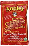 #1: Annie's Organic Bunny Fruit Snacks, Summer Strawberry, 24 Pouches, 0.8 oz Each