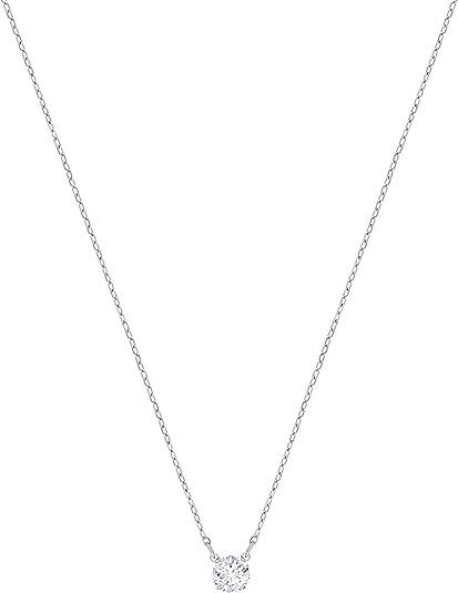 Oferta amazon: Swarovski Collar Attract Round, Blanco, Baño de Rodio