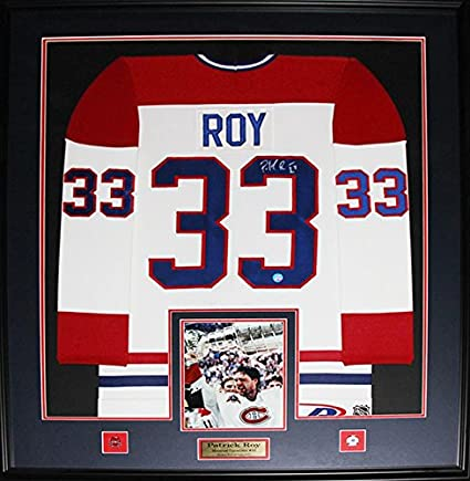 new styles ef6ba 59be3 Patrick Roy Montreal Canadiens Signed Jersey NHL Hockey ...