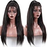 26 Inch Lace Front Wigs Human Hair With Baby Hair Straight Remy Hair Unprocessed Human Hair Wigs For Black Women 13x4 Lace Frontal Ear To Ear Pre Plucked Wig 150% Density