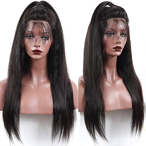 Glueless Lace Front Human Hair Wigs For Women Black Pre Plucked 100% Human Hair Lace Front Wigs 13x4 Lace Frontal Wig Straight Hair Extensions Brazilian Virgin Lace Wig With Baby Hairs 22 Inch