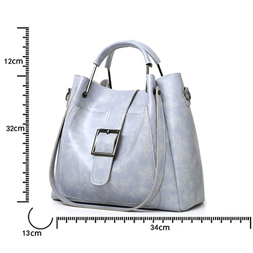 borsa borsa tracolla borsa retro serie dell'olio Nuova delle femminile donne della messaggero della morbido 3 sacchetto della a borsa del raccoglitore del Grigio Tisdaini madre 5O0ZxA