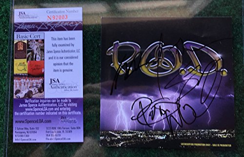 P.O.D. Band Multi Signed CD Booklet AUTO Autograph JSA COA
