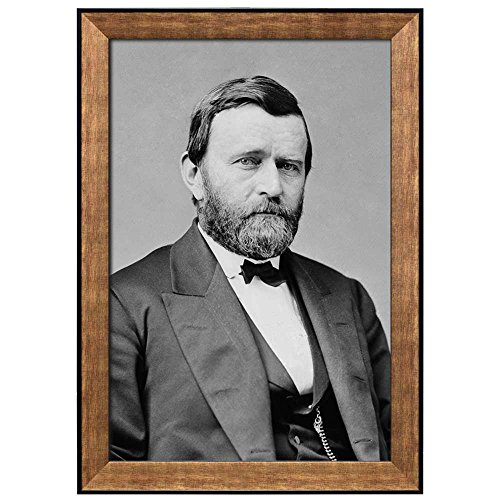 Portrait of Ulysses S Grant (18th President of the United States) American Presidents Series Framed Art Print