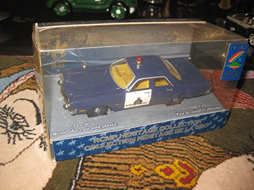 1970 Royal Canadian Mounted Police vintage blue die cast car model, limited edit