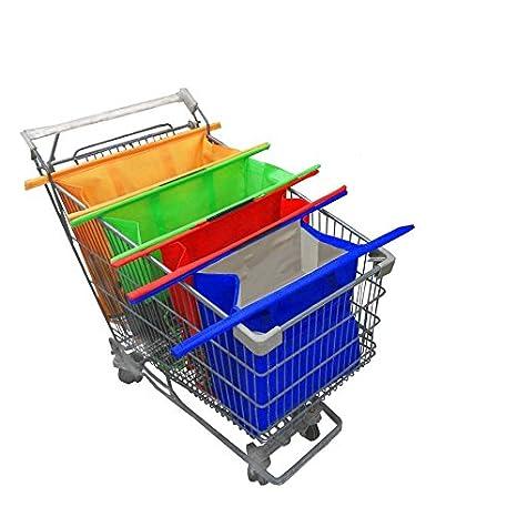 Set 3 bolsas + 1 termo para carrito de supermercado: ordena y ahorra tiempo. Simple y resistente. Ideal para las compras.: Amazon.es: Hogar