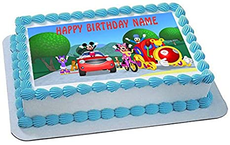 Super Baking Accs Cake Decorating Mickey Mouse Clubhouse Edible Round Personalised Birthday Cards Paralily Jamesorg