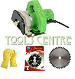TOOLS CENTRE POWERFUL 110MM(4') CUTTING MACHINE FOR WOOD ,GRANITE, MARBLE, TILE WITH 2 WHEELS & A FREE PAIR OF RUBBER GLOVES COMBO OFFFER