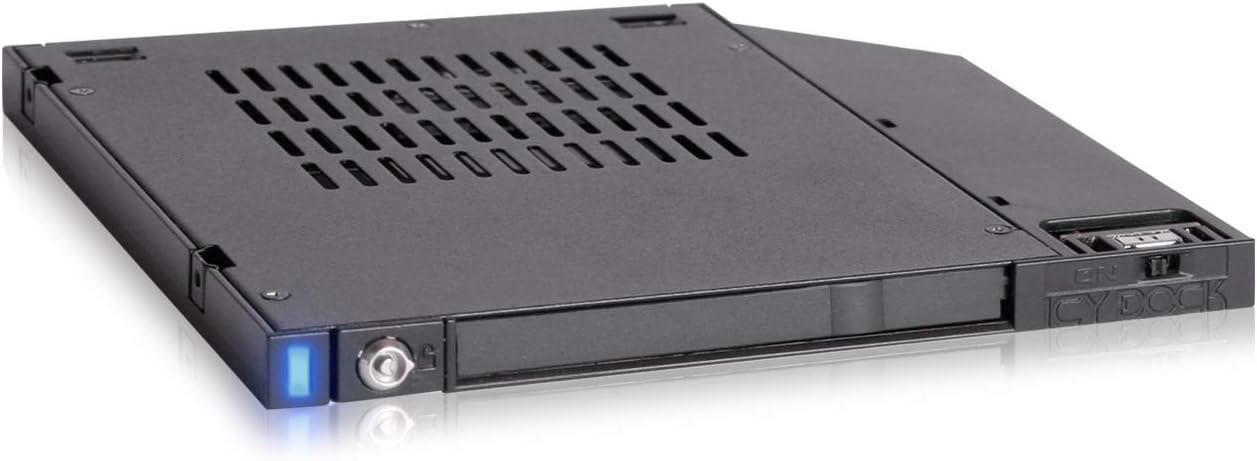 "ICY DOCK flexiDOCK MB511SPO-1B 2.5"" SATA SSD/HDD Docking 2nd SSD HDD Adapter Caddy Case for 9.5mm Laptop CD/DVD-ROM Ultra Slim Optical Bay Drive Slot"