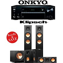 Klipsch Reference Premiere RP-250F 5.1-Ch Home Theater System with Onkyo TX-NR676 7.2-Ch 4K Network AV Receiver