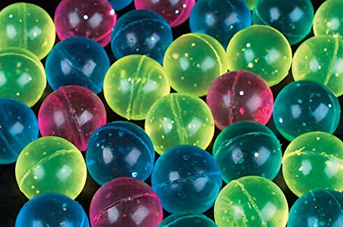 24 glitter superballs high bounce bouncy balls 27 mm 1 inch vending (High Bounce Glitter)