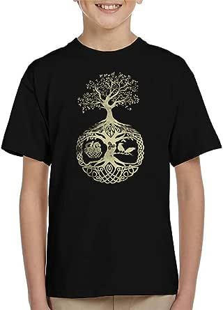 Cloud City 7 Tree of Life Odin Valhalla Kid's T-Shirt