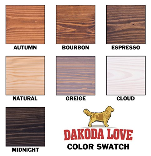 DAKODA LOVE 5.25'' Deep Weathered Edge Floating Shelves, USA Handmade, Clear Coat Finish, 100% Countersunk Hidden Floating Shelf Brackets, Beautiful Grain Pine Wood Rustic (Set of 2) (36'', Greige) by DAKODA LOVE (Image #6)