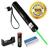 TSONCOLE Tactical Green Hunting Rifle Scope Sight Laser Pen, Demo Remote Pen Pointer Projector Travel Outdoor Flashlight, LED Interactive Baton Funny Laser Toy