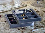 2 Pack  The Stack 'em Bangle and Hoop Earring Organizer features 6 extra-large compartments perfectly sized for storing larger bracelets and earrings. Stack 'em jewelry organizers are made of high-quality resin for long-lasting durability. Hi...