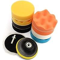 11Pcs Sponge Buffing Polishing Waxing Pad Kit for Car Polisher Buffer w/Drill Adapter(4inch)