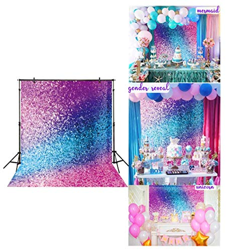 Funnytree 5x7ft Soft Fabric Colorful Printed Backdrop (No Glitter) Wrinkles Free Party Photography Background Portrait Birthday Decorations Cake Table Banner Photobooth Photo Studio Video Props]()