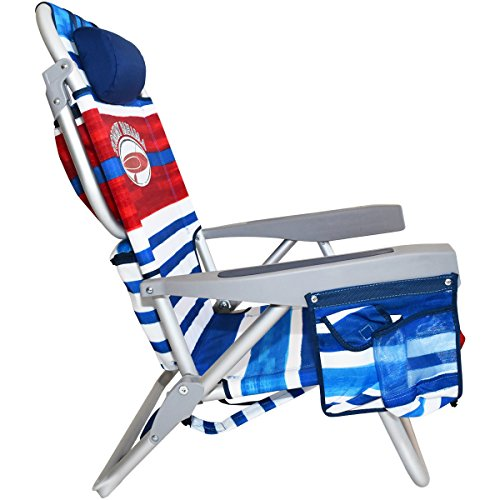 2 Tommy Bahama Backpack Beach Chairs/ Red White Blue Stripes + 1 Medium Tote Bag by Tommy Bahama Beach Gear (Image #2)