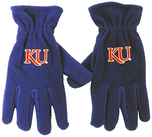 Donegal Bay NCAA Kansas Jayhawks Boy's Fleece Glove, One Size, Blue