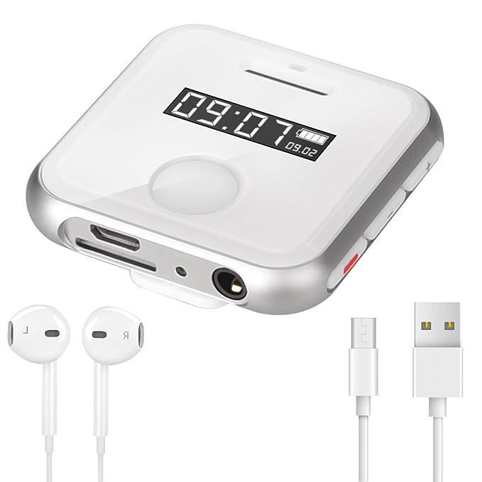 Reproductor MP3 Deportivo con Clip Olycism 8GB Mini Mp3 (Radio FM Portátil/ Grabación/ Interruptor de Tiempo/ Micro SD Card/ Lossless Sound): Amazon.es: ...