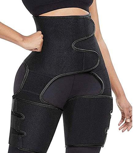 MOTOBA Waist Trainer for Women Weight Loss, 3 in 1 Thigh Trimmer Butt Lifter Trainer Adjustable Waist Trimmer Belt Hip Enhancer Body Shaper