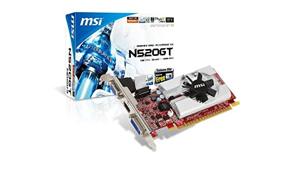 MSI NVIDIA GeForce GT 520 1 GB DDR3 VGA/DVI/HDMI Tarjeta de ...