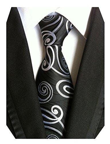 men ties black and white - 2