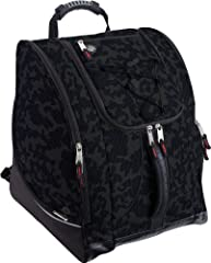"""The Athalon """"Everything"""" Boot Bag is loaded with features to suit your active lifestyle. The boot bag features zippered, ventilated side pockets for boots, a center section for a jacket, helmet, or clothing, an MP3 pocket on the front with he..."""