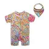 BIG ELEPHANT 1 Piece Unisex Baby Summer Pattern