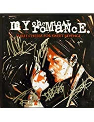 My Chemical Romance band reprint signed autographed Three Cheers For Sweet Revenge 12x12 album art poster photo