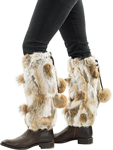 Spanish Rabbit Fur Boot Toppers by Overland Sheepskin Co