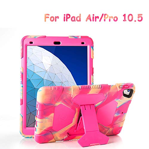 """iPad Air 10.5"""" 2019/iPad Pro 10.5 2017 Kids Case, ACEGUARDER Shockproof Protective Impact Resistant Rugged Cover with Kickstand - Candy"""