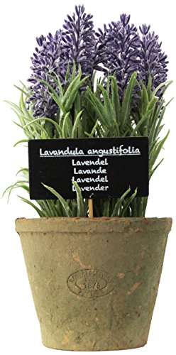 Esschert Design Artificial Herb Plant, Large, Lavender