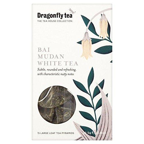 Dragonfly Bai Mudan White Tea Pyramid Bags - 15 per pack (0.05lbs) by Dragonfly Tea