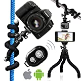 Nialik Flexible Tripod For Your Camera - Phone - Flashlight or GoPro - Lightweight and Compact Professional Stand In Your Pocket. Can Hold Up To 10 Lbs
