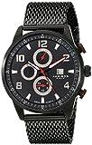 Akribos XXIV Men's AK784BK Multifunction Swiss Quartz Movement Watch with Black Dial and Stainless Steel Bracelet