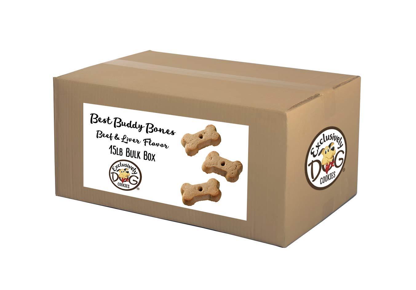 Exclusively Pet Best Buddy Bones-Peanut Butter Flavor, 15-Pound Box