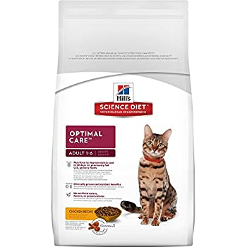 Hill's Science Diet Adult Optimal Care Chicken Recipe Dry Cat Food, 7 lb bag