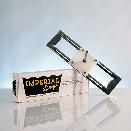 Imperial Sparge Arm - Adjustable Width for All Grain Home Brewing on any Mash Tun Mashing Thermometer
