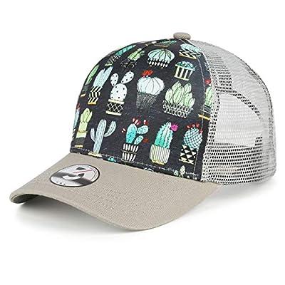 flySpacs Unisex Snapbacks Polo Style Dad Hat Mesh Trucker Hat Men&Women Baseball Cap