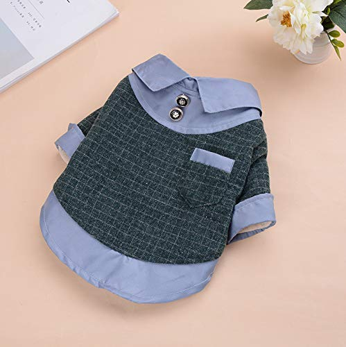 Green S Green S Doggy Costume Pet Supplies Misc Autumn and Winter Korean Version of The New Dog Clothes Lapel Shirt Models Teddy VIP Bomei Small Dog Clothes (color   Black, Size   L) Pet Dog Clothes