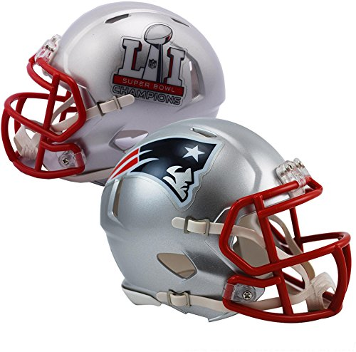 iddell New England Patriots Super Bowl LI Champions Revolution Speed Mini Football Helmet - NFL Mini Helmets ()