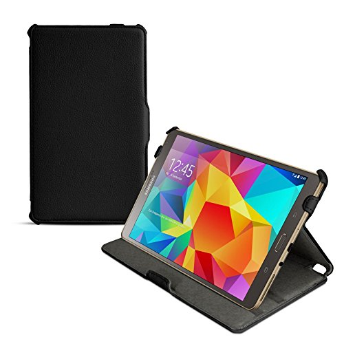 eFabrik Ultra Slim Case f/ür Samsung Galaxy Tab S 8.4 Tasche H/ülle mit Aufstellfunktion und Auto Sleep//Wake Up Funktion aus hochwertigem Kunstleder schwarz