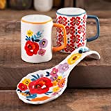 The Pioneer Woman Flea Market Stoneware Floral Spoon Rest & Salt And Pepper Set (Pack of 3)