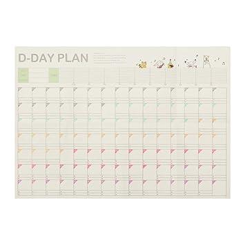 7 estilos 2019 365 días calendario de pared papel calendario ...
